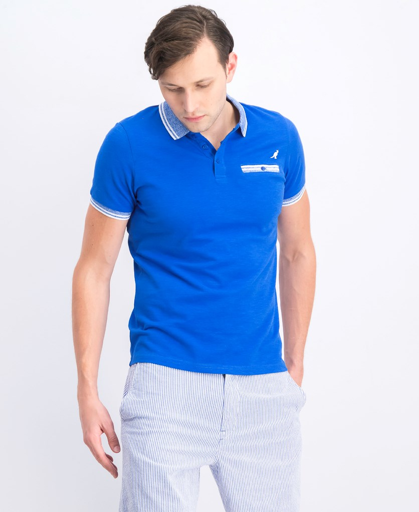 Men's Short Sleeve Polo Shirt, Blue
