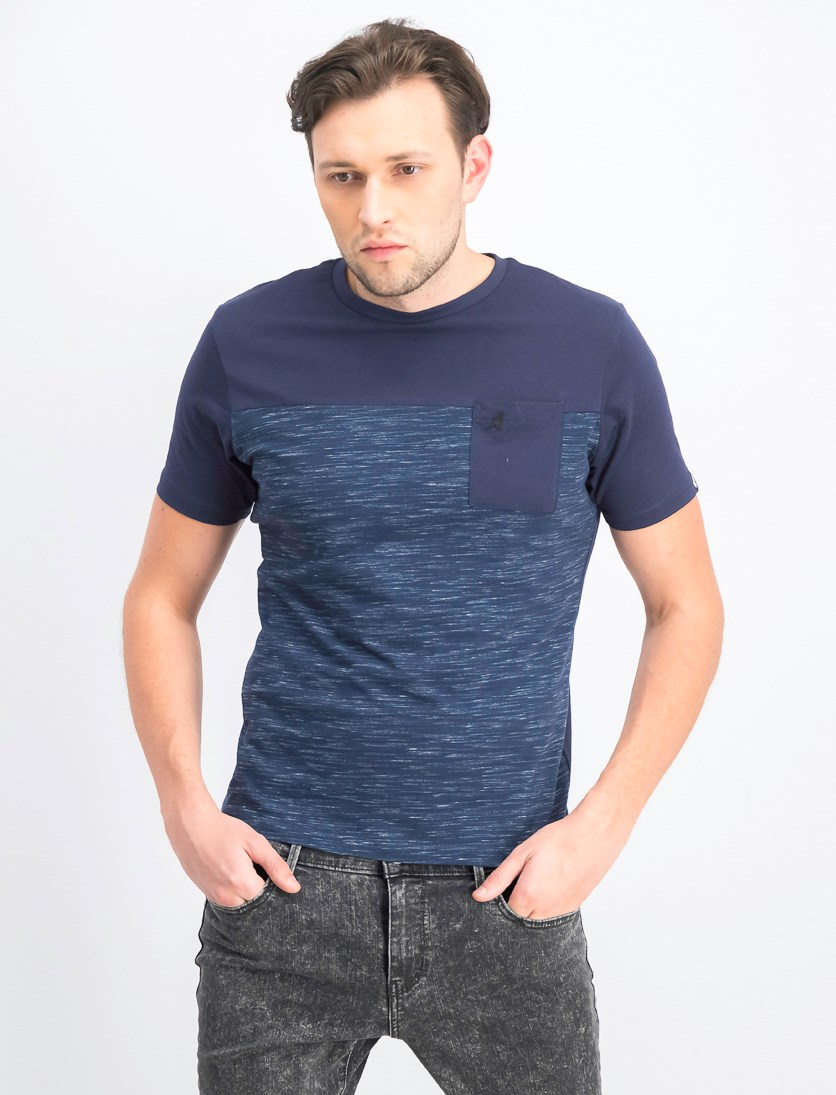 Men's Elbrus Short Sleeve T-Shirt, Navy/Teal