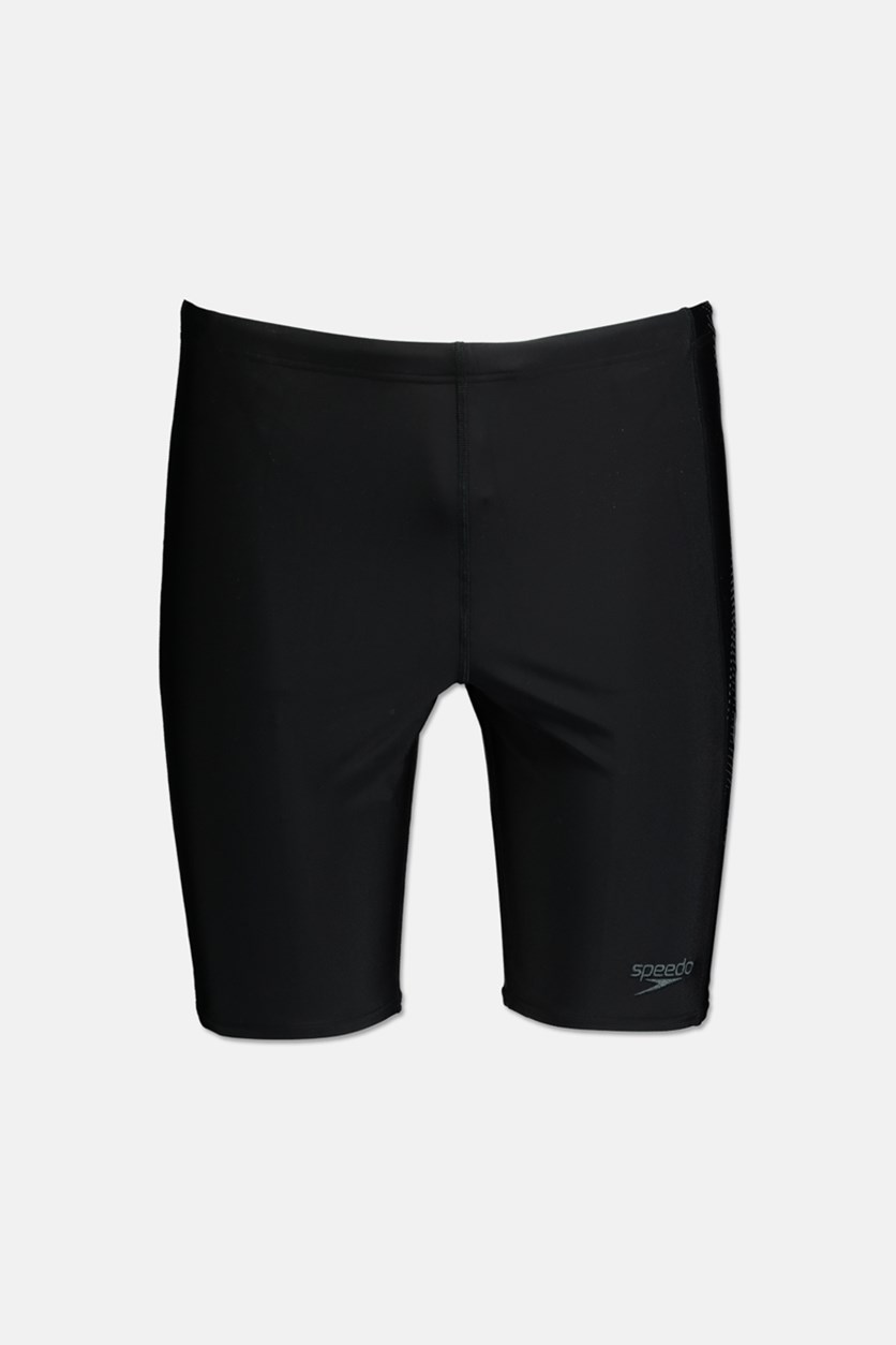 Men's Sports Logo Jammer Shorts, Black/Grey
