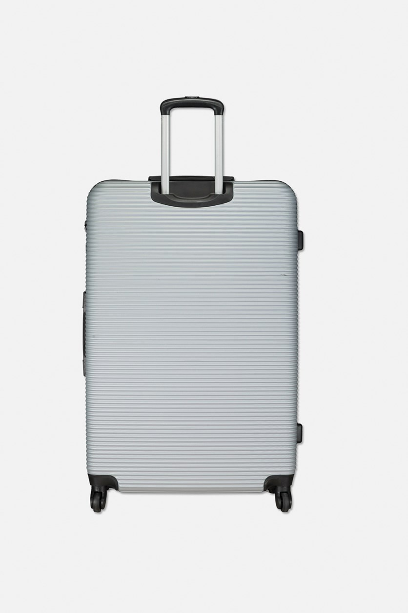 Large Traveling Luggage, Silver