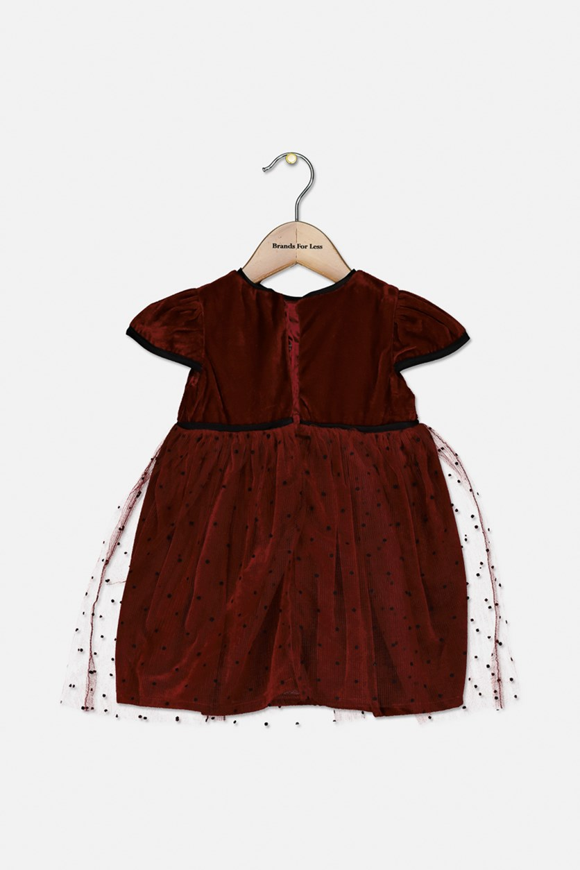 Toddlers Short Sleeve Dress, Red