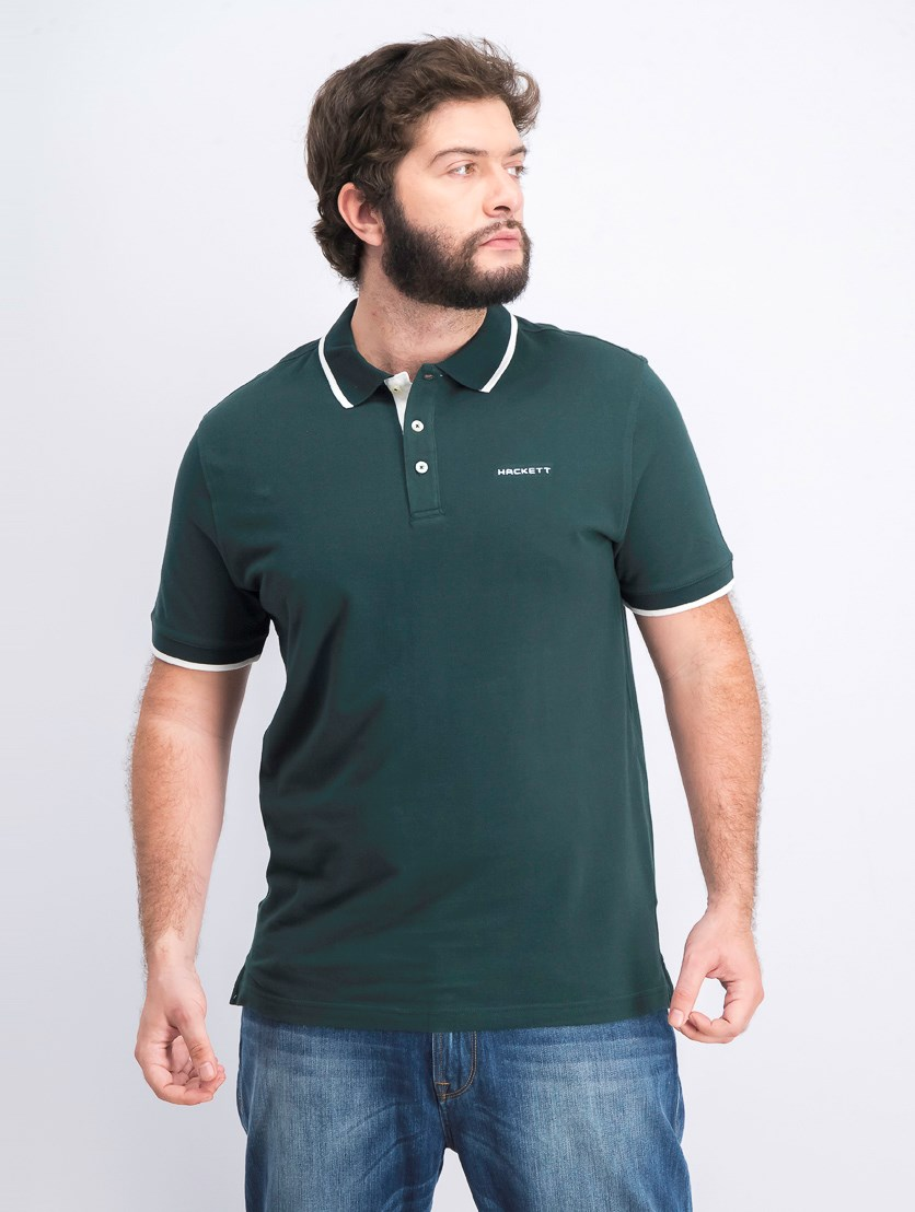 Men's Cotton Piquet Polo, Dark Green