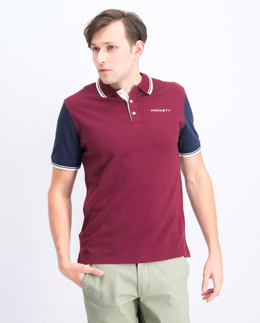 Men's Pique Polo Shirt, Cabernet