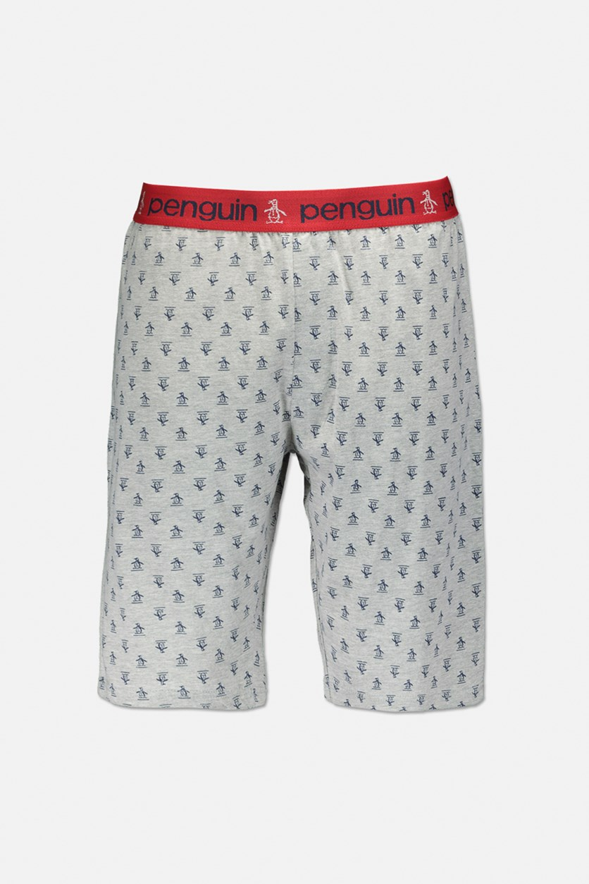 Men's Allover Print Pull On Boxers, Red/Navy Blue/Grey