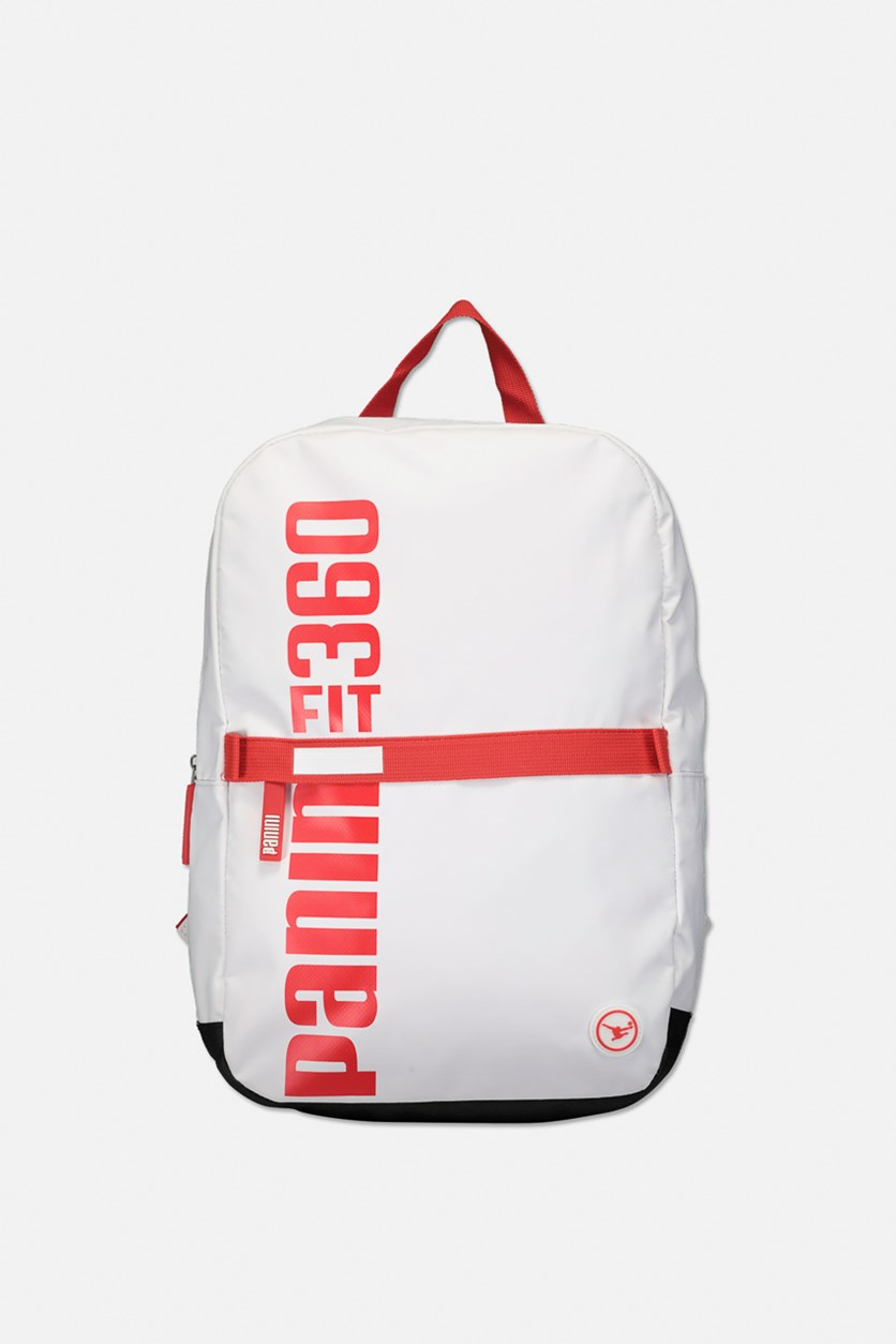 Graphic Print Backpack, Red/White