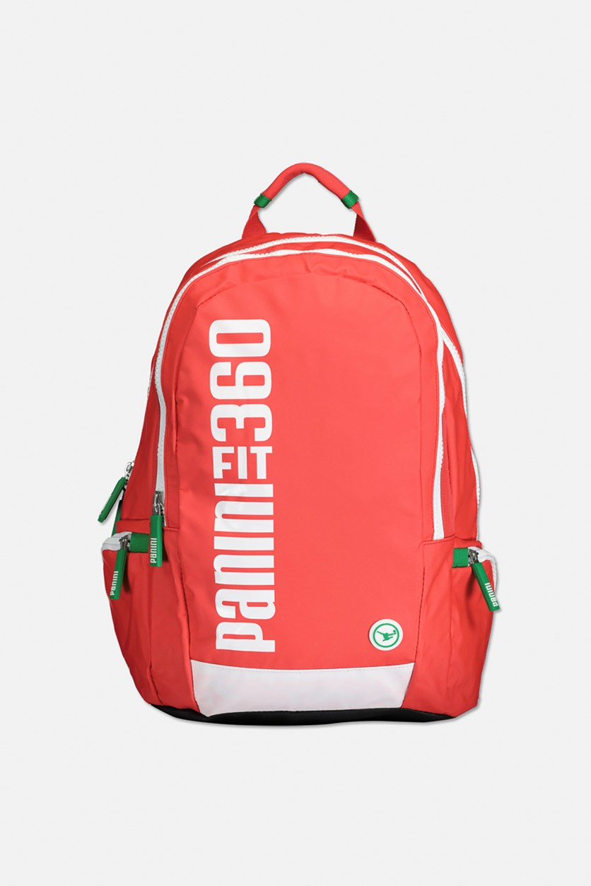 Graphic Print Backpack, Red/White/Green