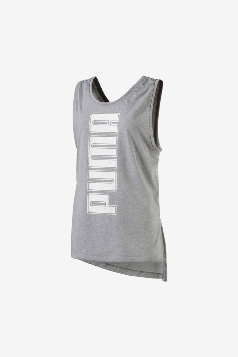 Girl's Softsport Tank Top, Grey/White
