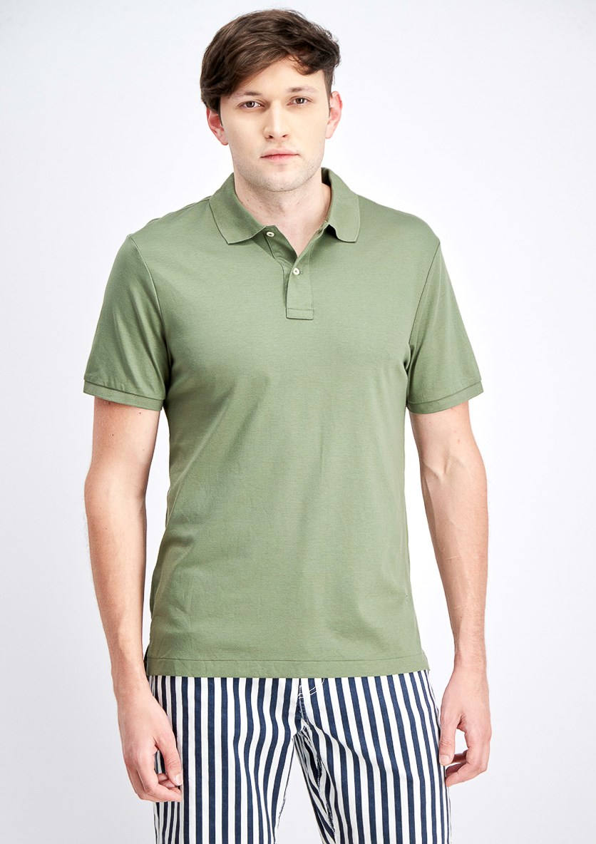 Men's Plain Shortsleeve Polo Shirt, Green