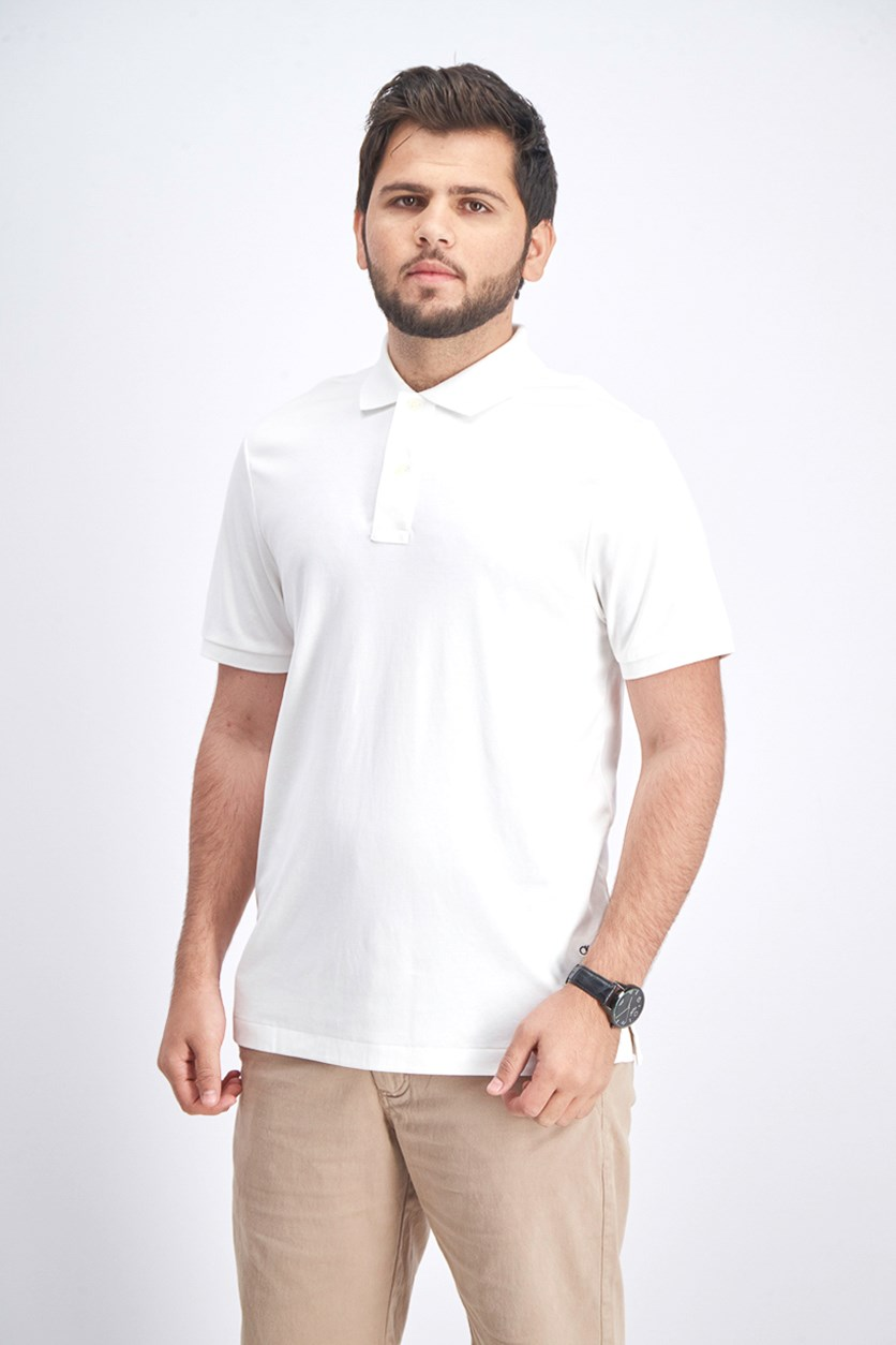 Men's Plain Polo Shirt, White
