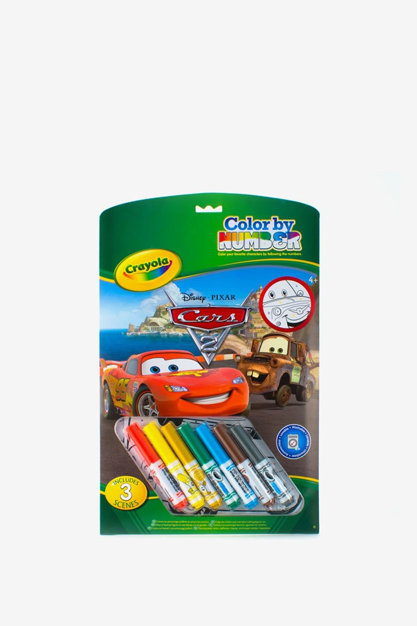 Crayola Color By Number Cars 2, Green/Red Combo