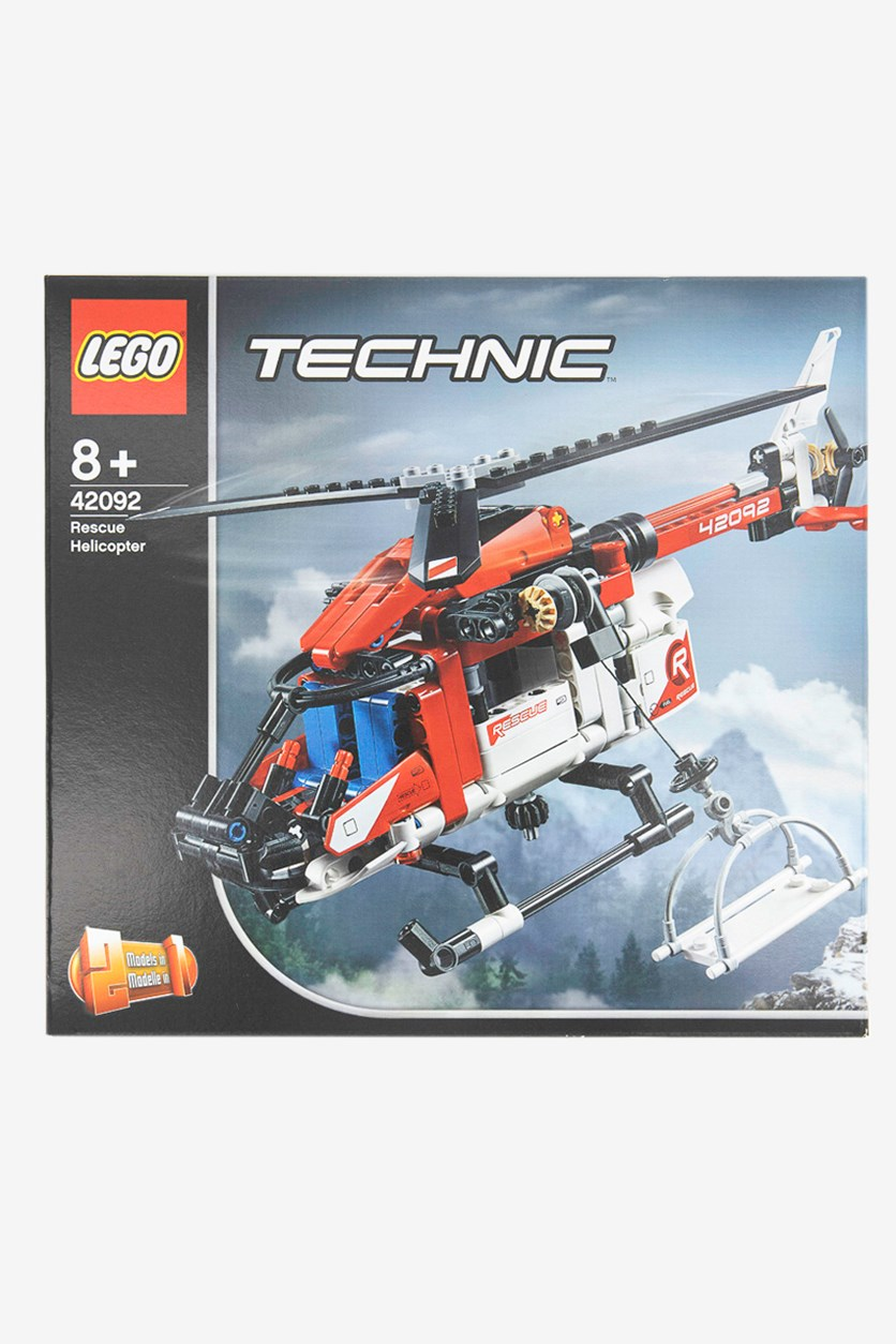 Technic Rescue Toy Helicopter and Plane Playset, Red/Black
