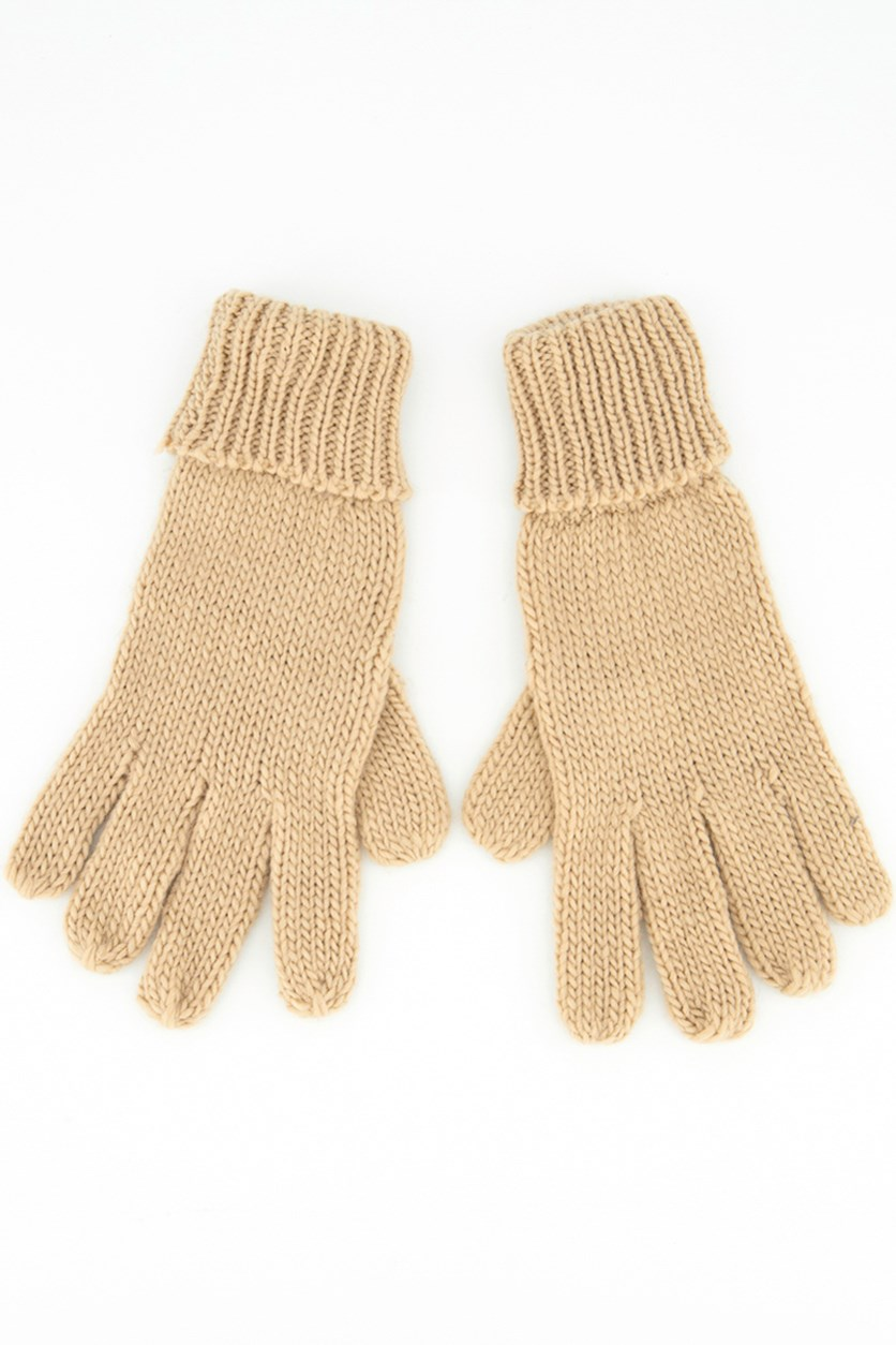 Women's Knitted Gloves, Brown