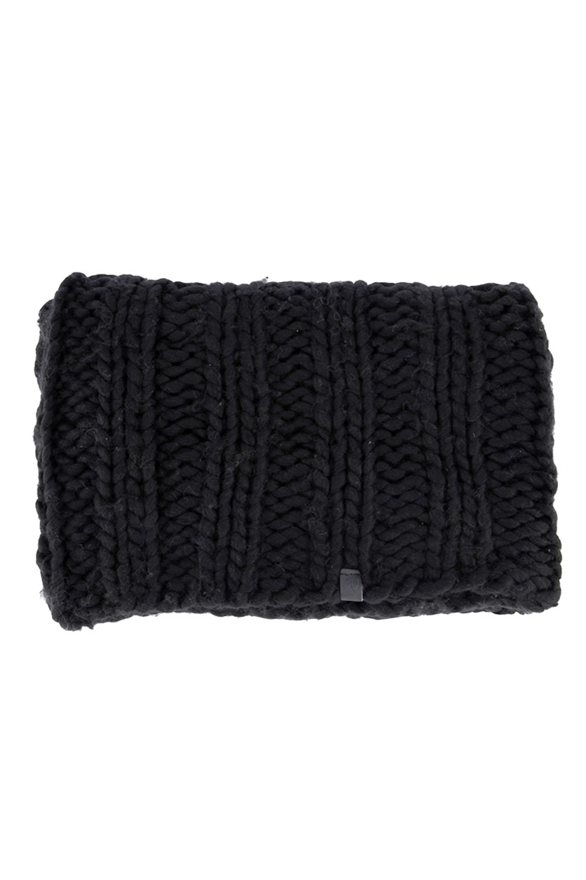 Women's Knitted Muffer, Black