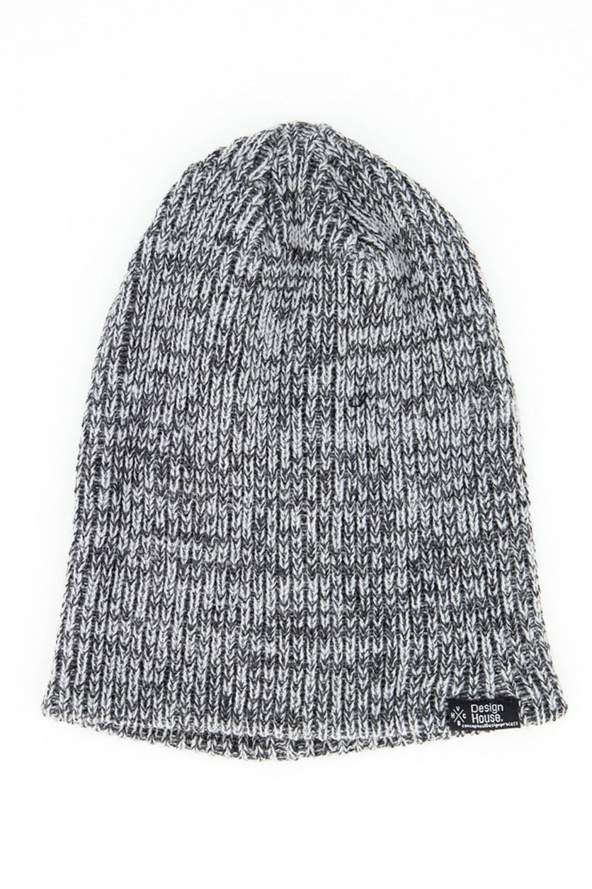 Men's Knitted Beanie, Black/Gray
