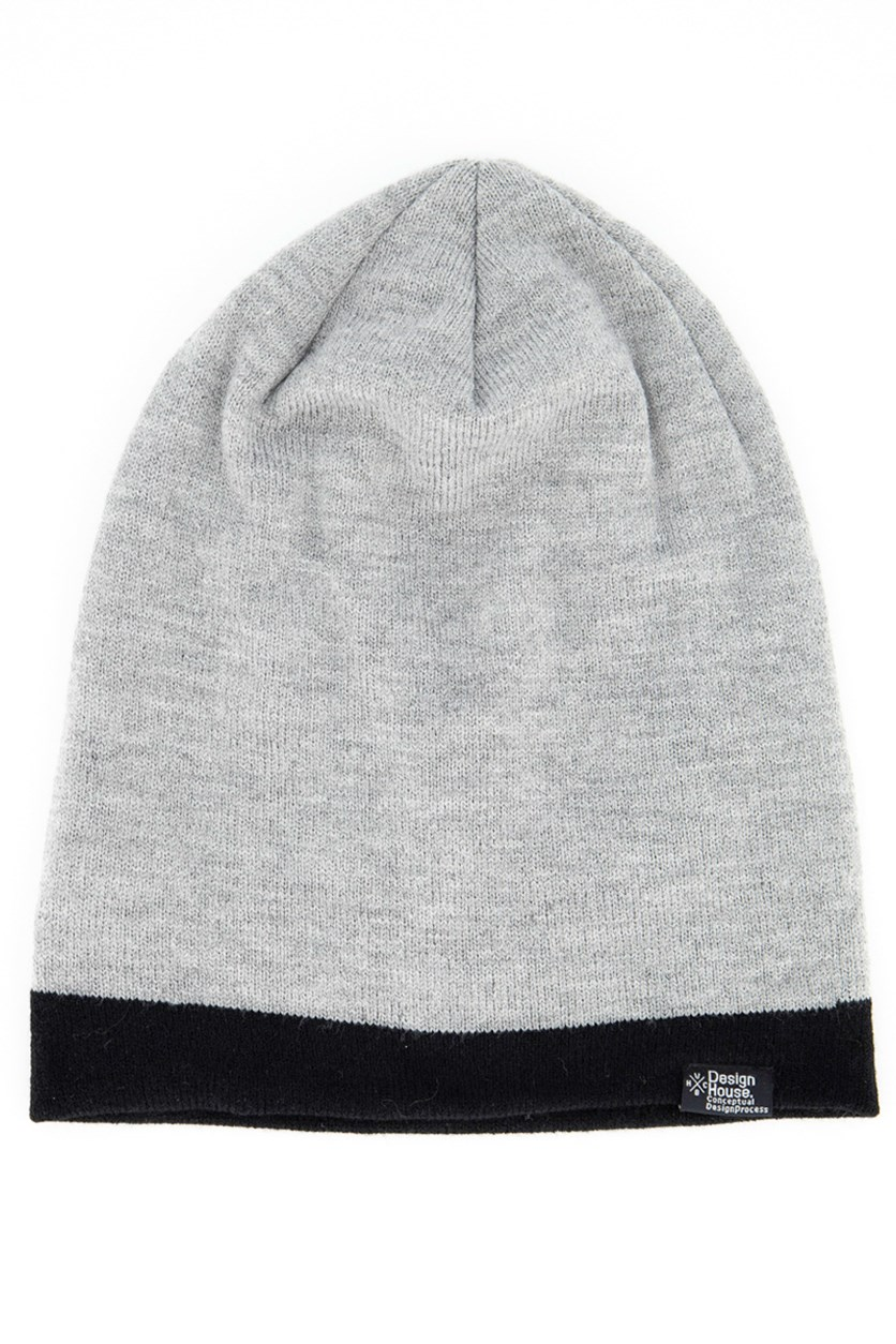 Men's Beanie, Grey/Black