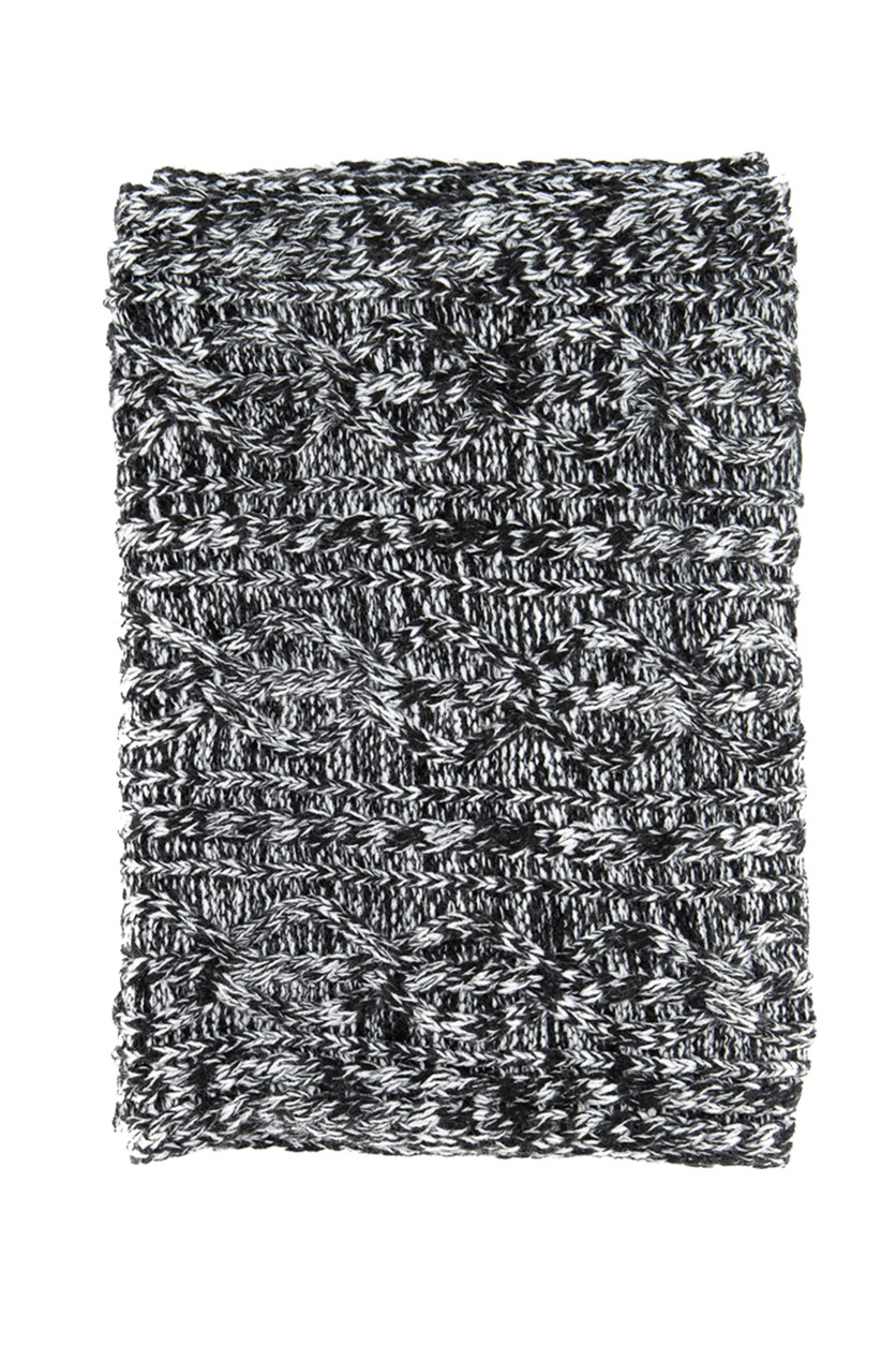 Women's Knitted Scarf, Black/White