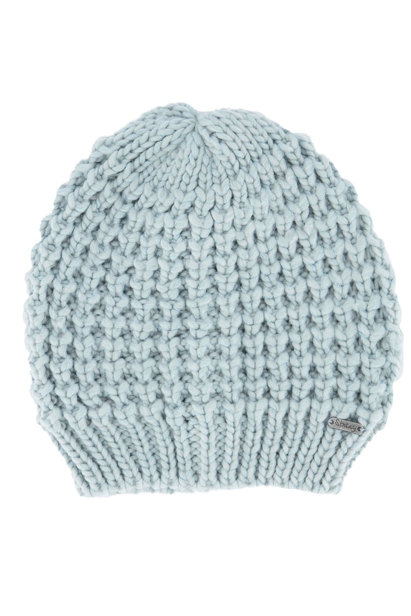 Women's Knitted Bonnet, Turquoise