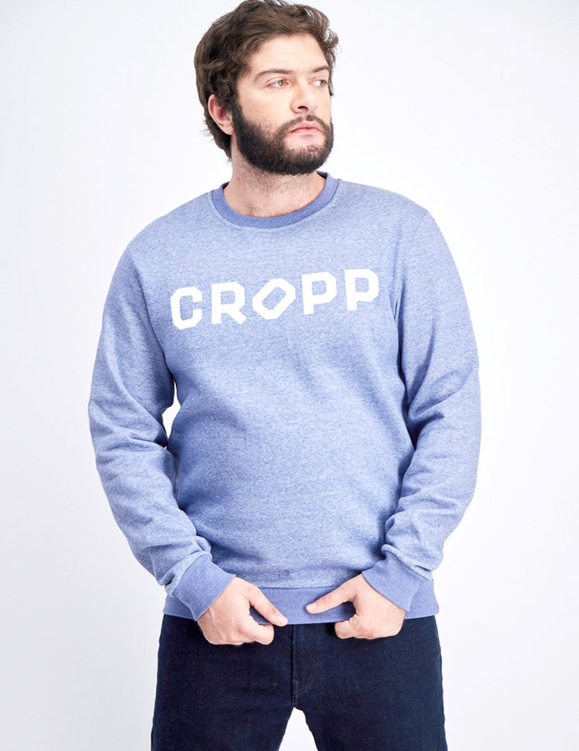 Men's Graphic Sweater, Blue