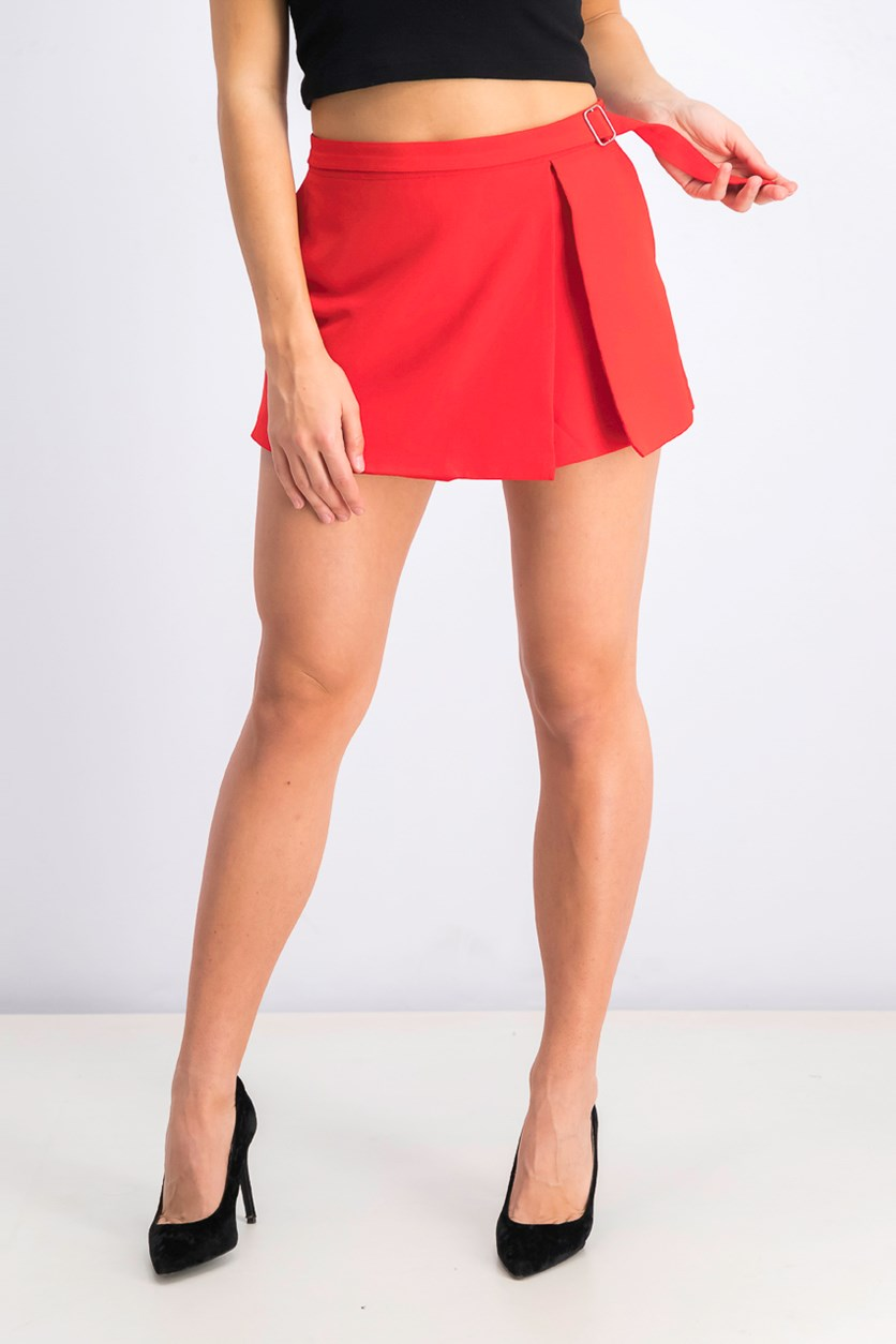 Women's  Belted Short, Red