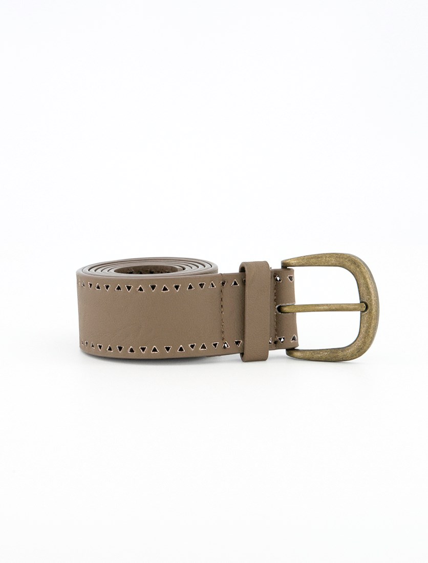 Women's  Textured Belt, Taupe