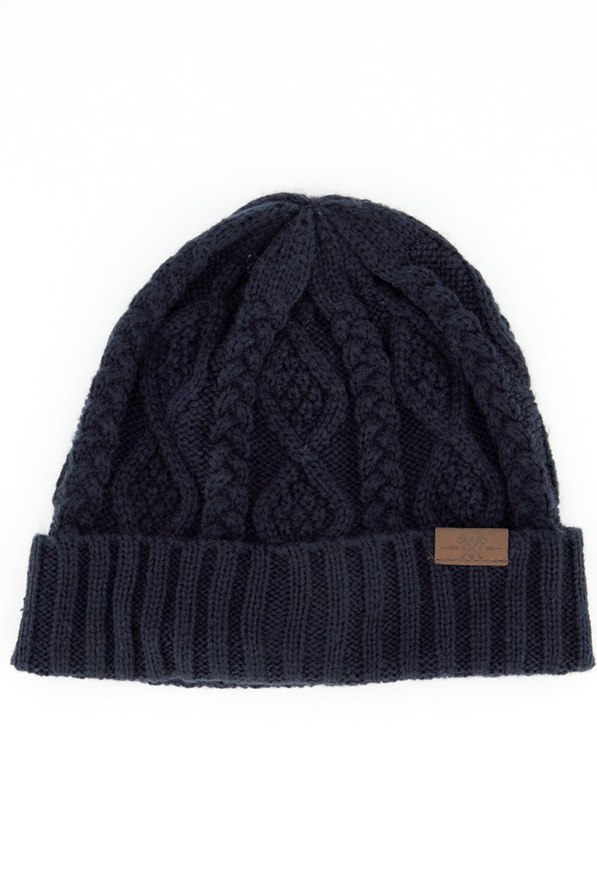 Men's Knitted Beanie, Navy