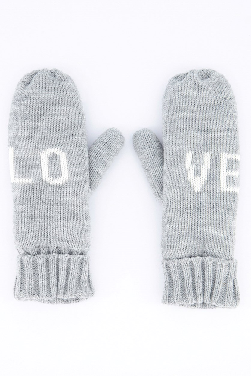 Women's Accesories Gloves, Gray