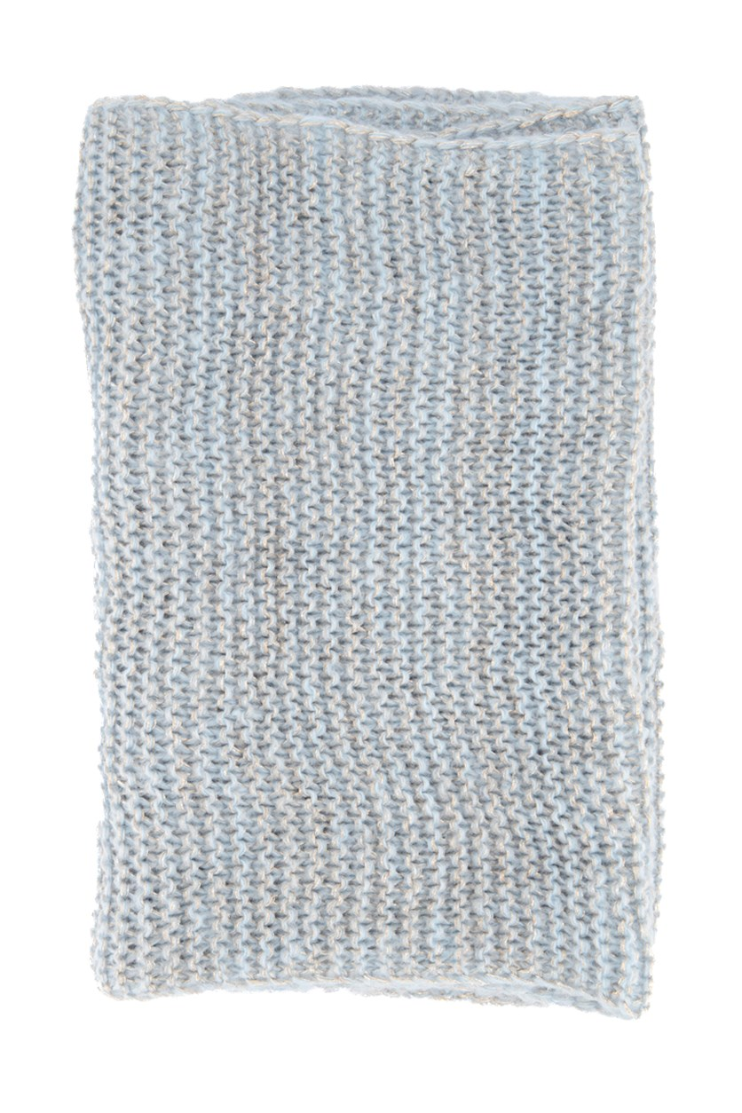 Women's Metallic Circle Scarf, Light Blue