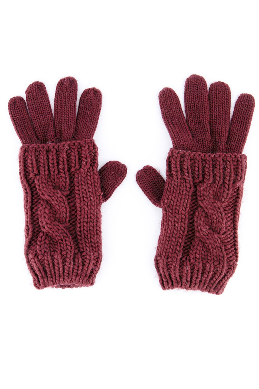 Women's Acrylic Gloves, Red