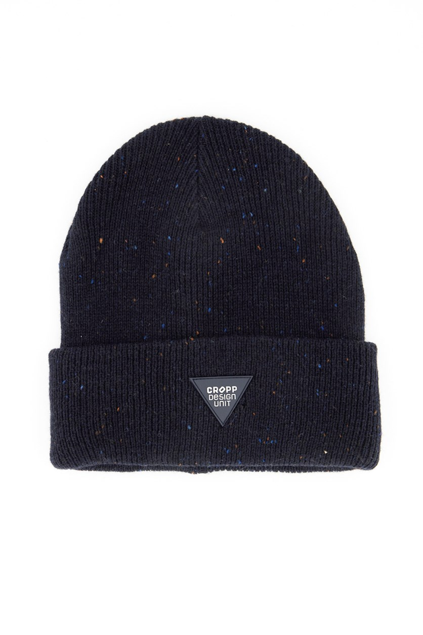 Men's Speckled Print Beanie, Navy