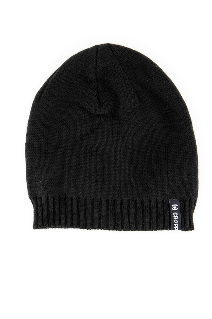 Men's Textured Beanie, Black