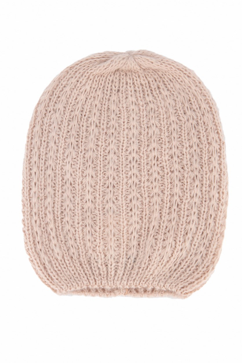 Women's Knitted Cap, Old Rose