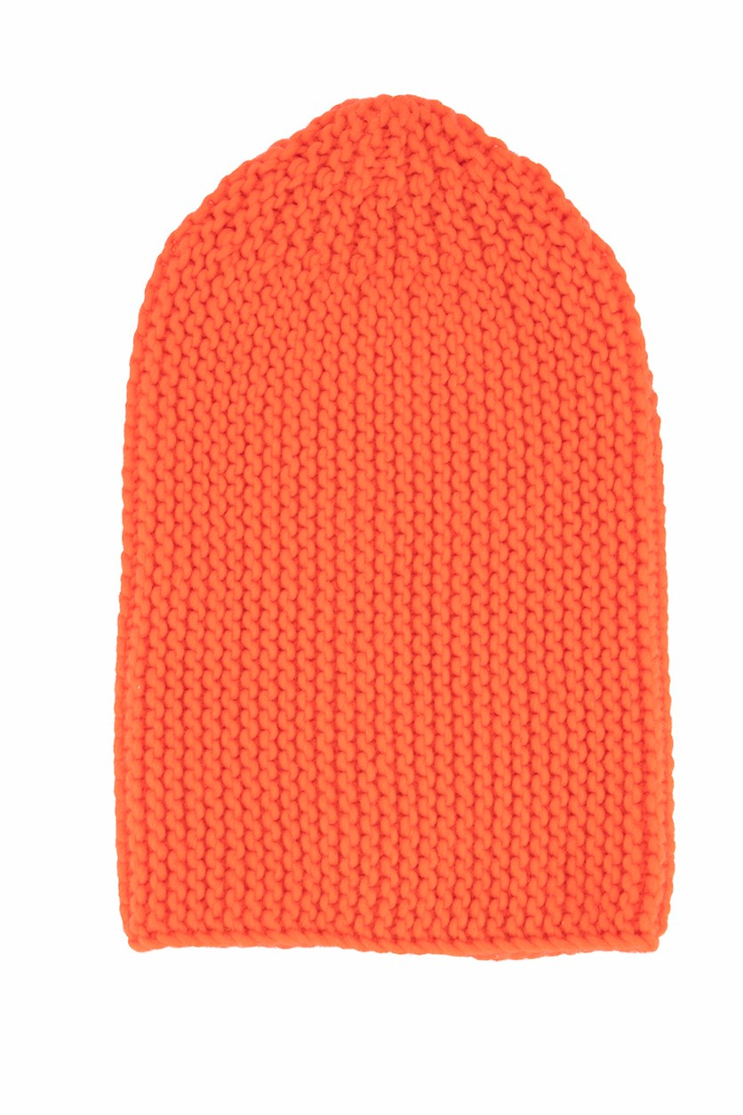Women's Long Knitted Cap, Red