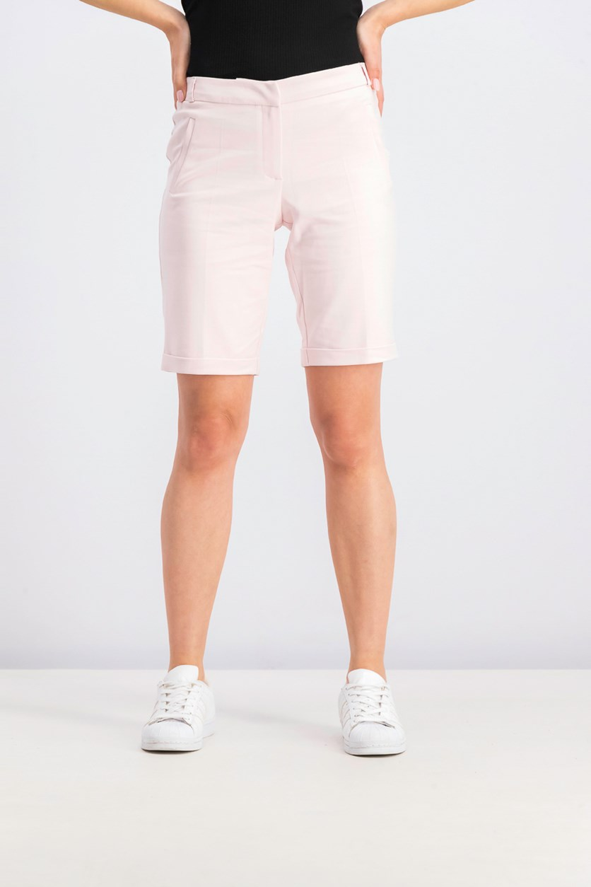 Women Welt Pocket Short, Pink