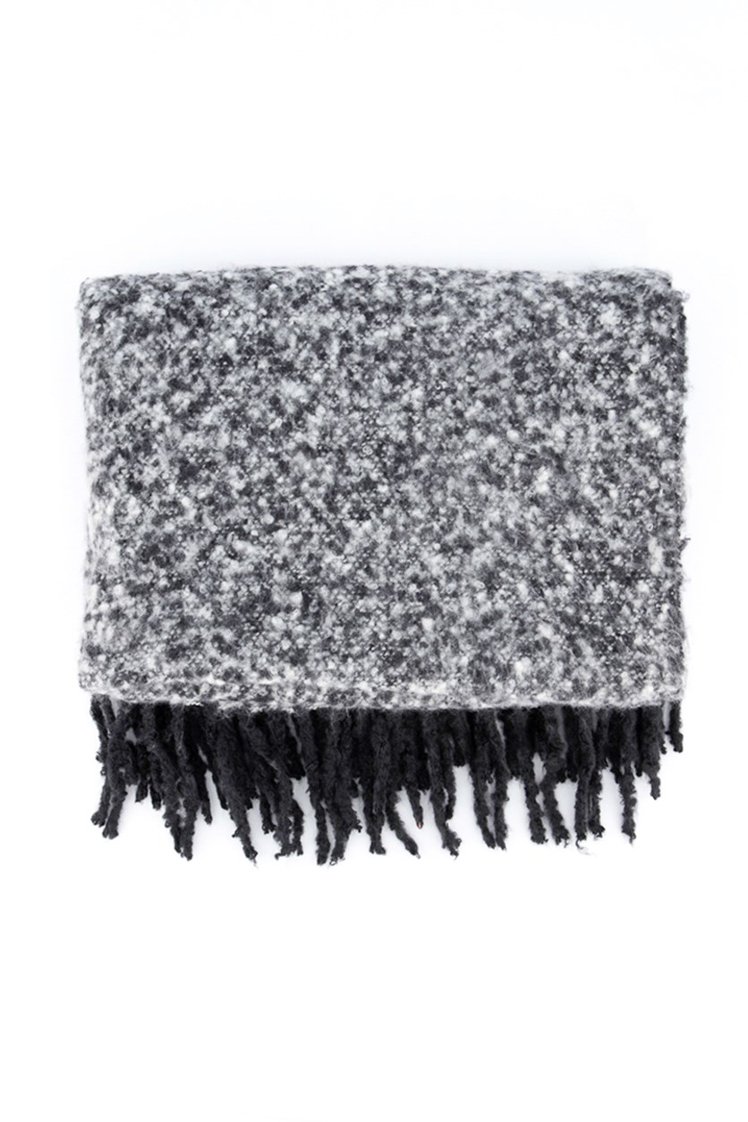 Women's Textured Scarf, Charcoal
