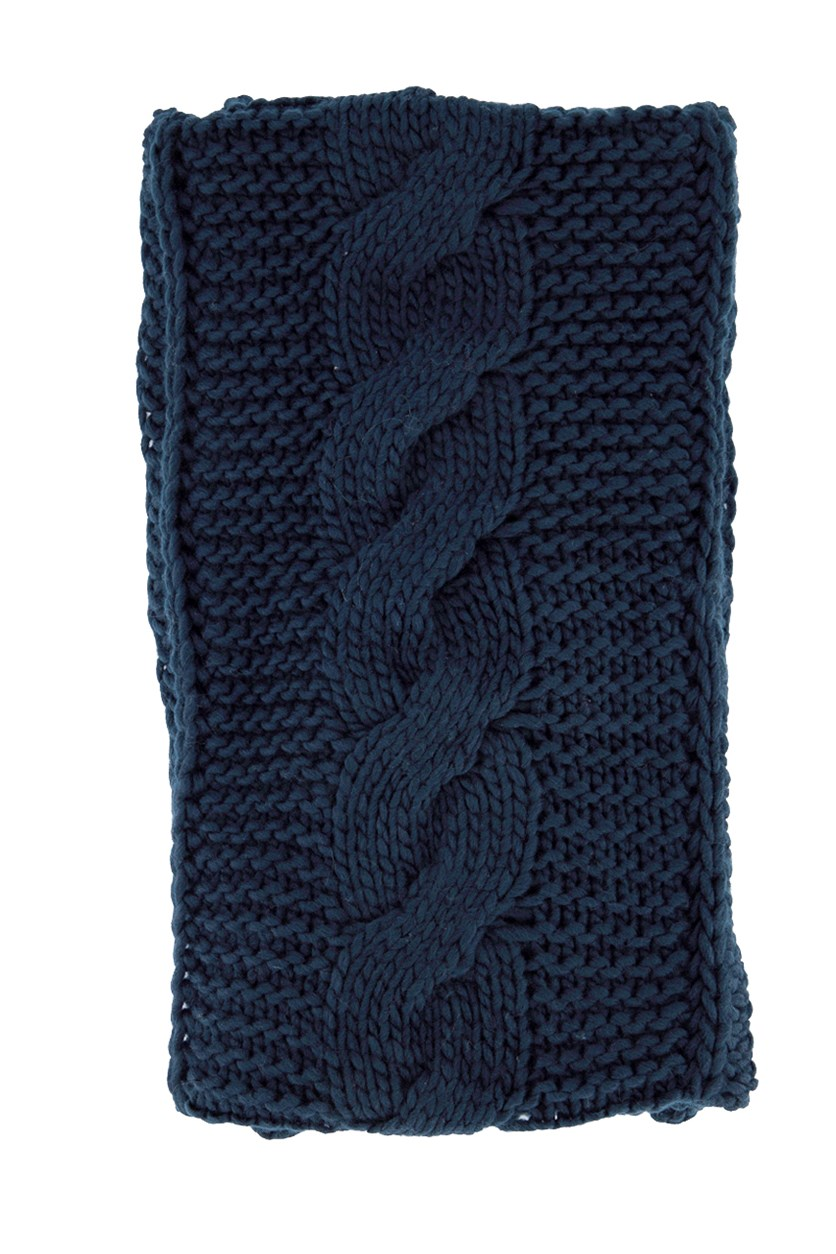 Women's Textured Muffler's, Navy Blue