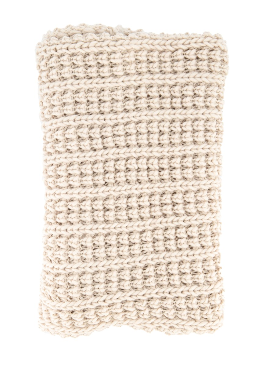 Women's Big Knitted Scarves, Cream
