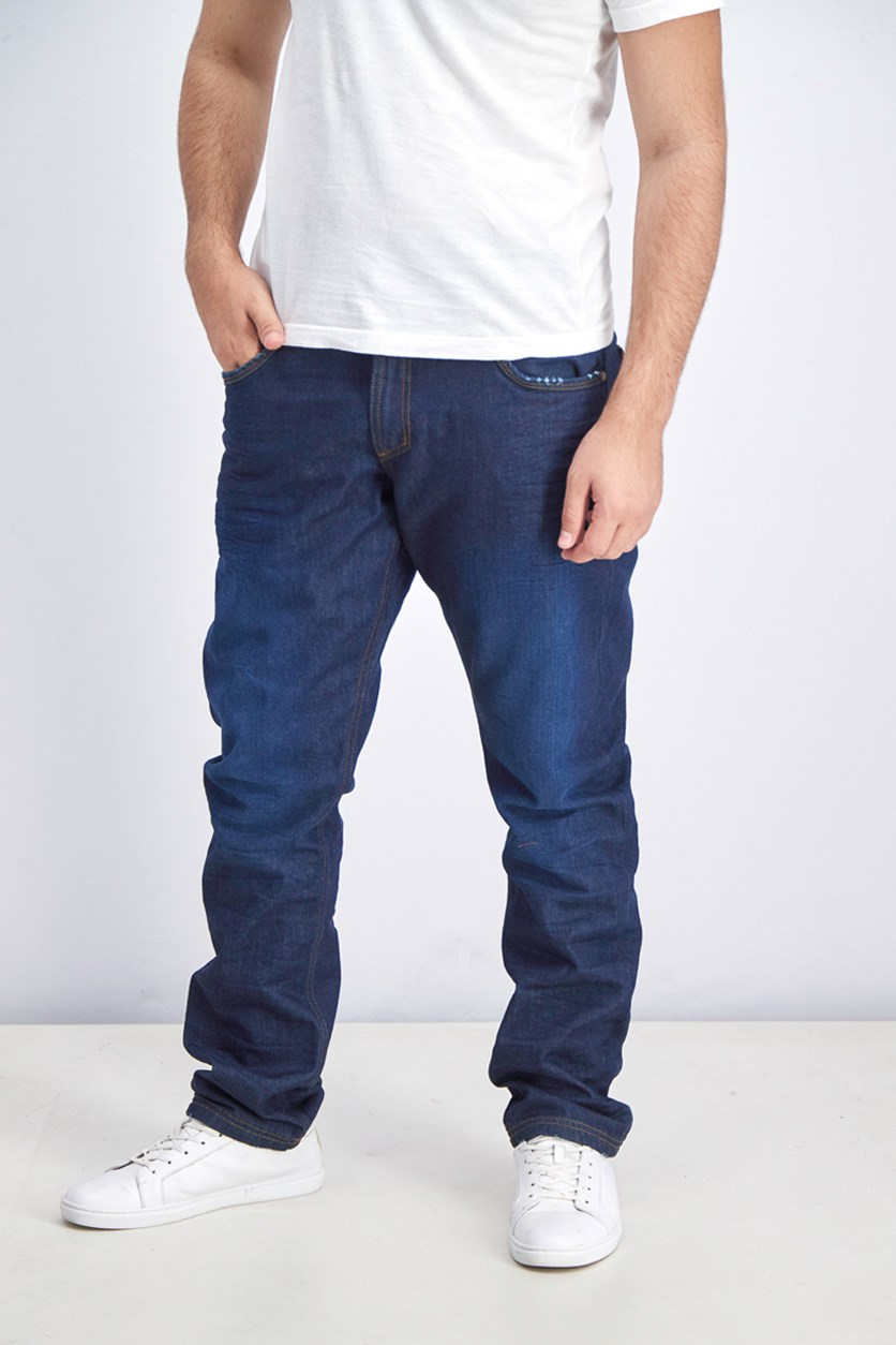 Men's Comfort Fit Jeans, Navy Blue