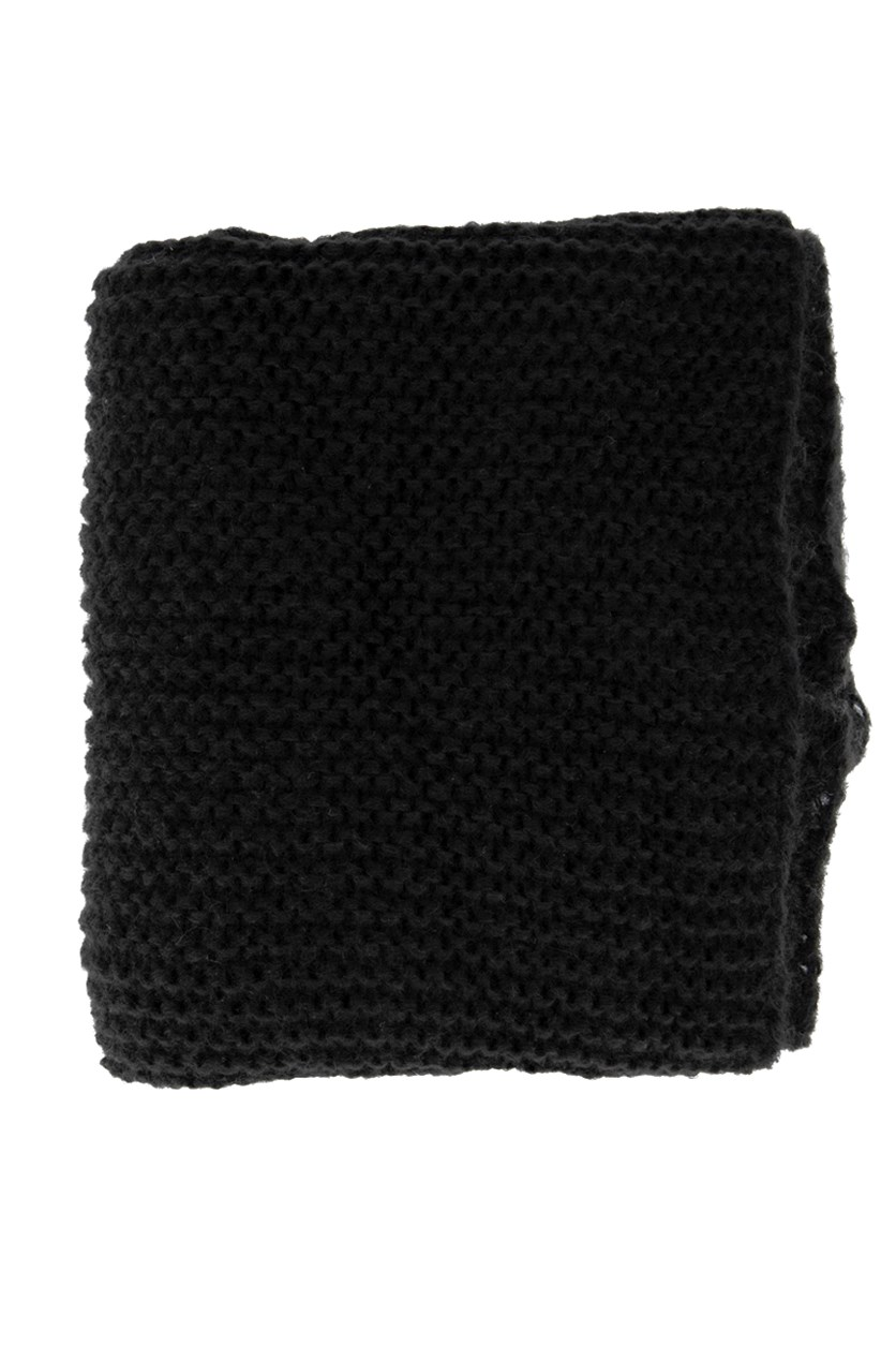 Women's Big Knitted Muffler, Black