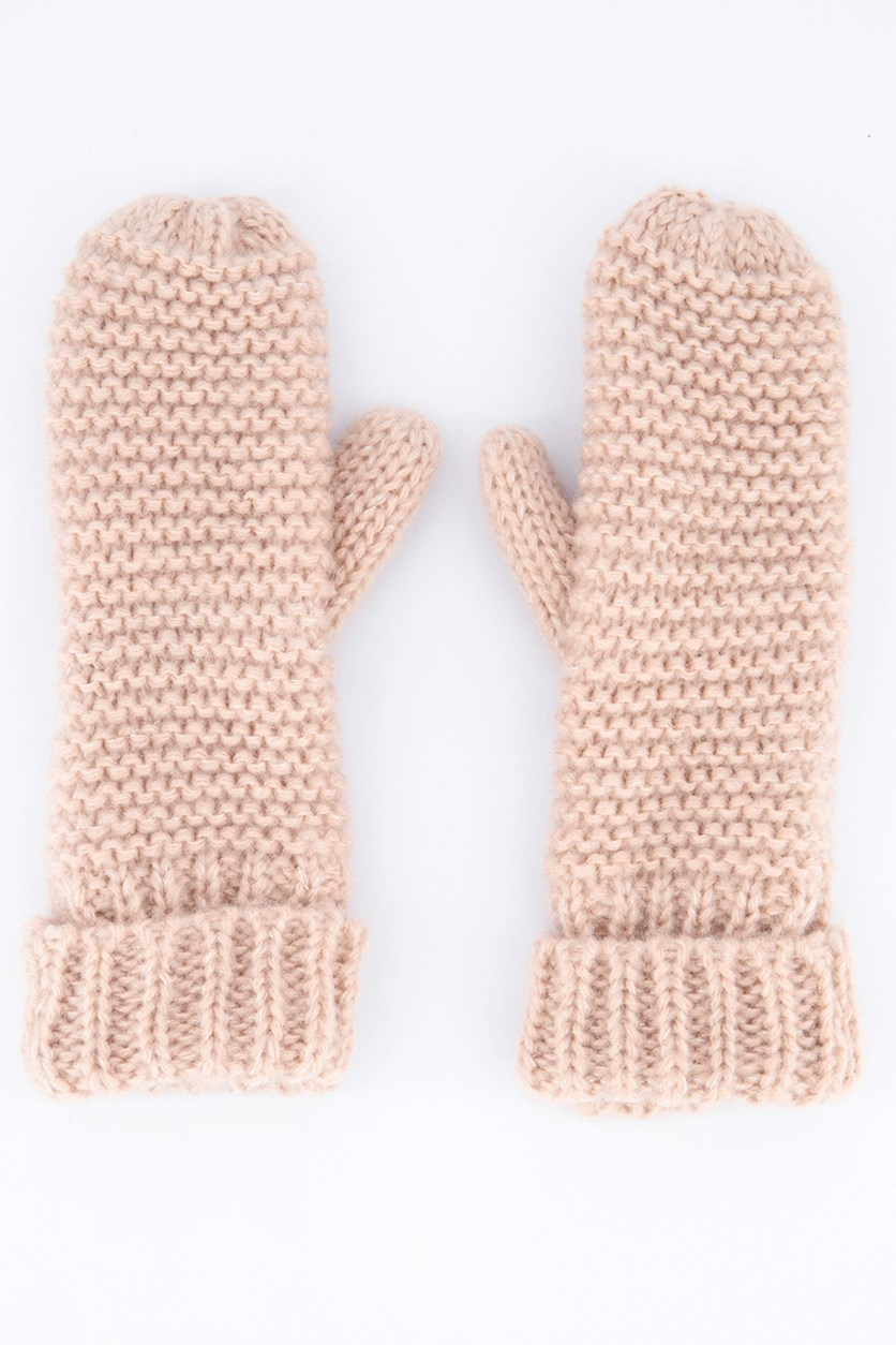 Women's Knitting Gloves, Peach