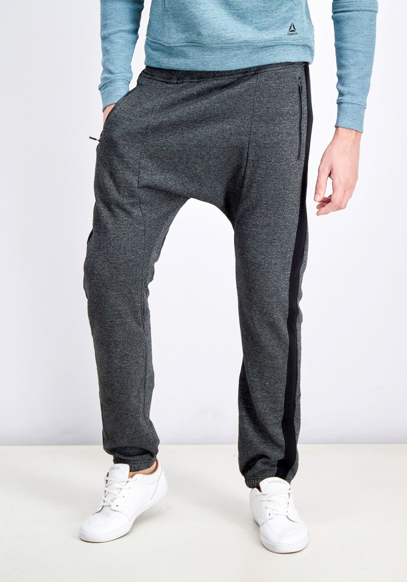 Men's Contrast Jogger Pants, Heather Dark Gray