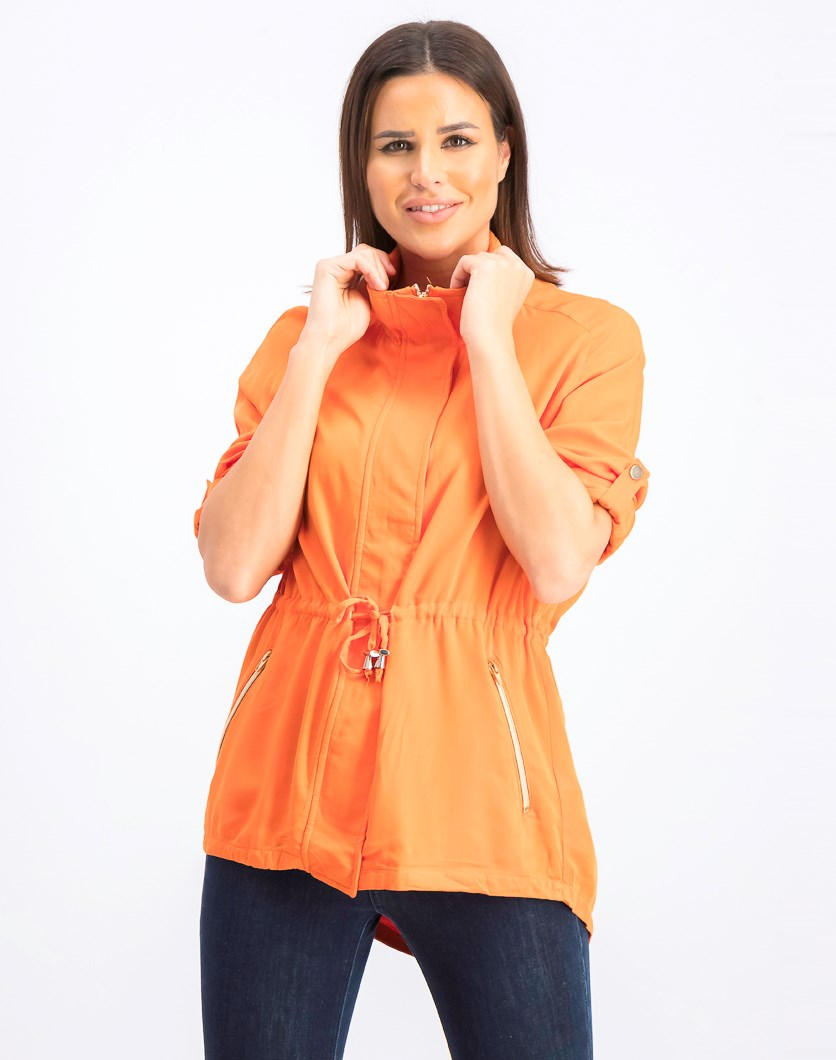 Women's Mock Neck Jacket, Orange