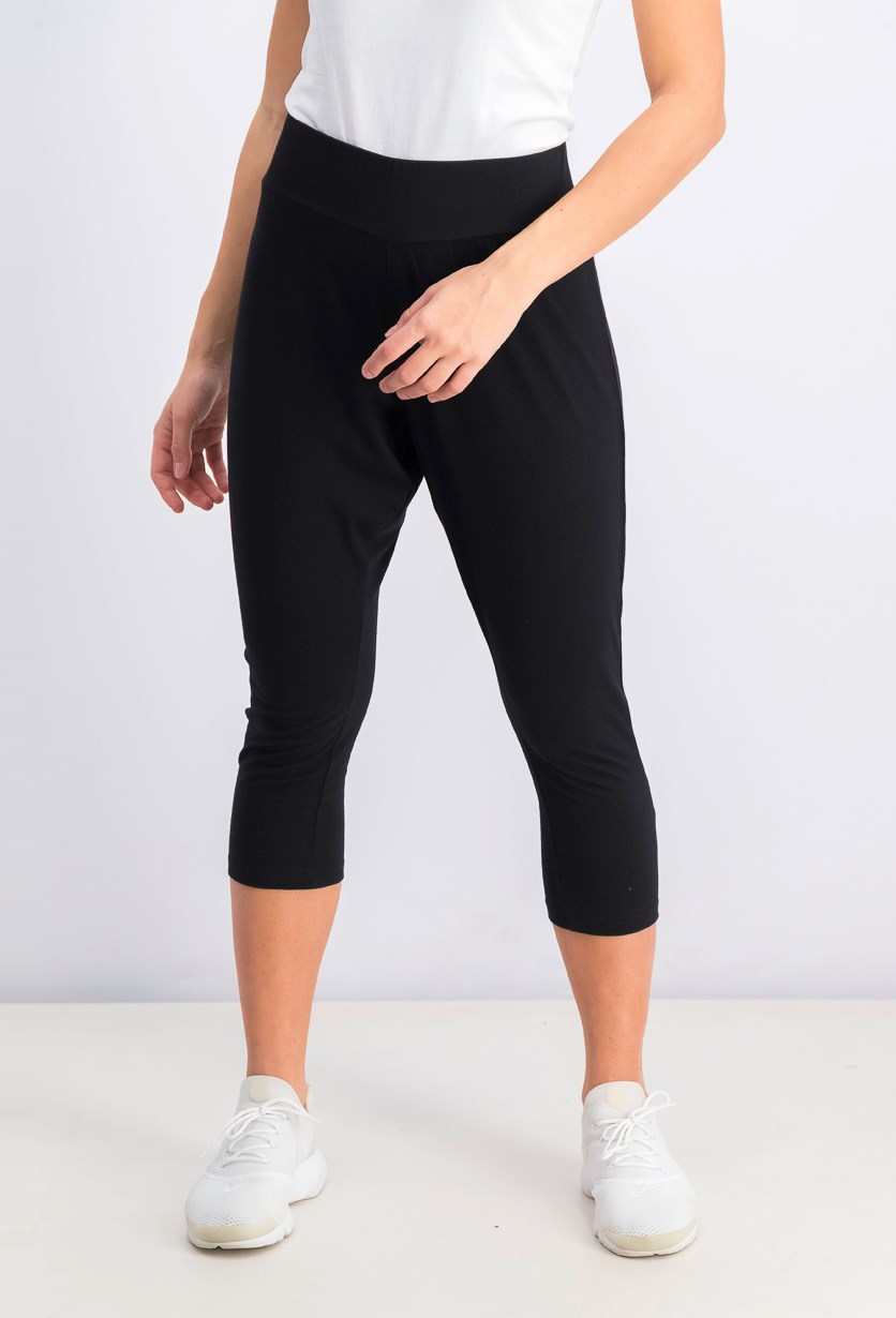 Women's Crop Pants, Black