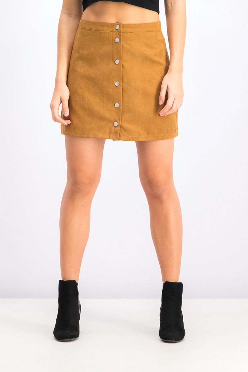 Women's A Line Skirt, Brown