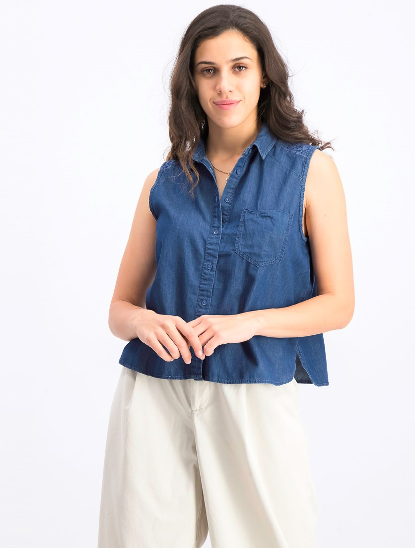 Women's Sleeveless Top, Blue