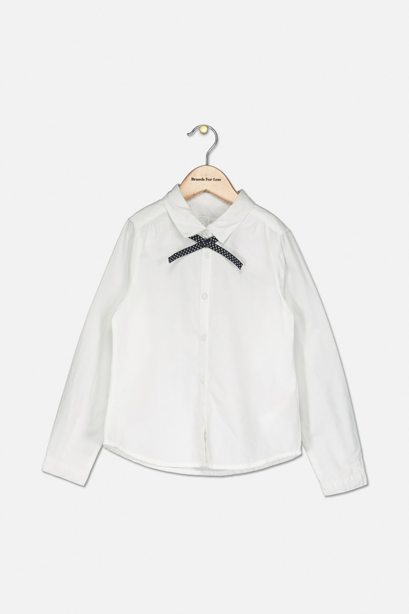 Kids Boys Plain Shirt, White