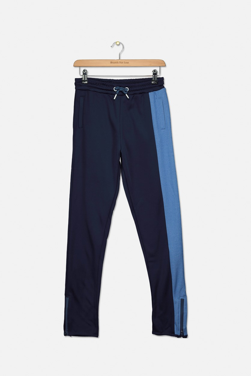Kids Boys Front Packet Pants, Navy/Blue