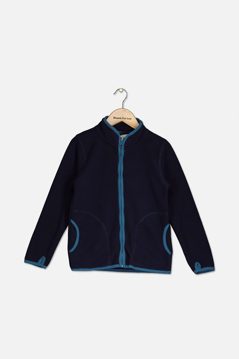 Boy's Full Zipper Jacket, Navy