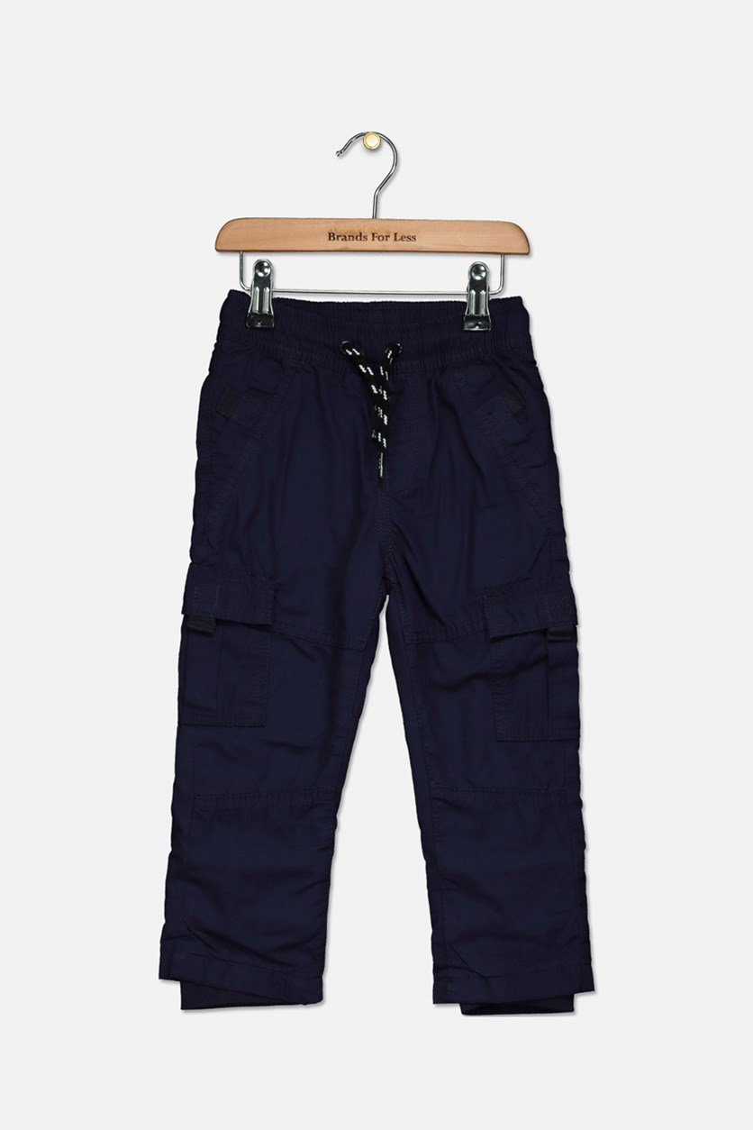 Toddler Boys Polar Lining Inside Trouser Pants, Navy