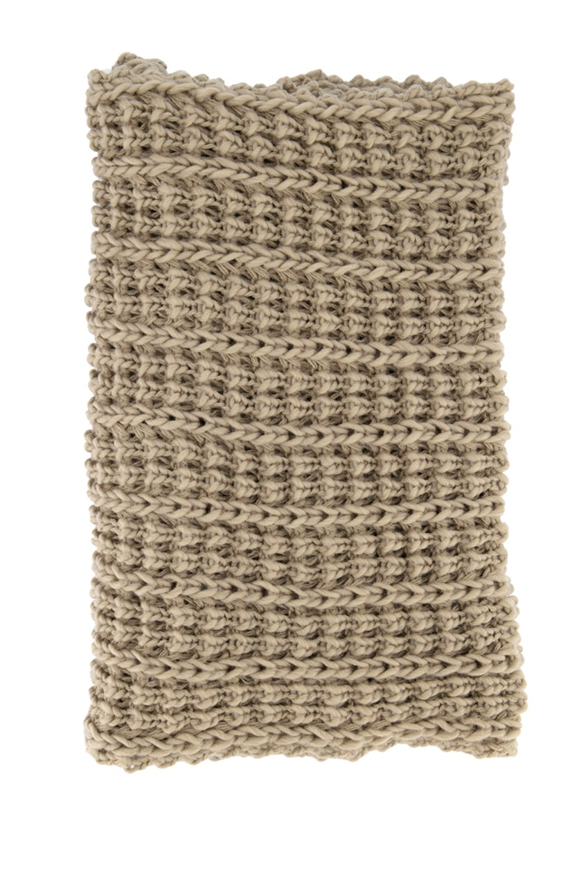 Womens Textured Scarf, Tan