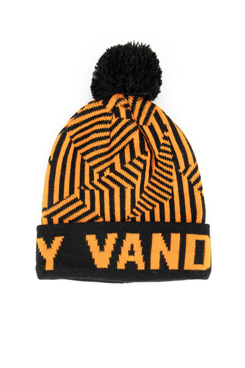 Men's Texture Vandalz Lazy Beanie, Black/Rust